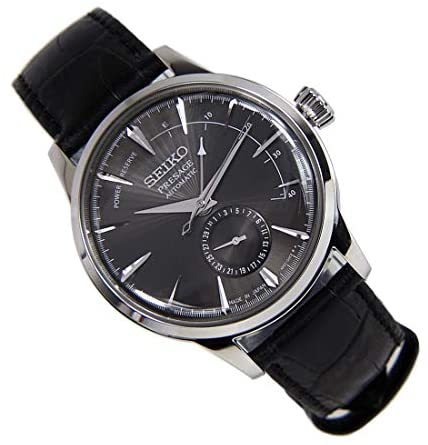 417N6RiLatL. AC  - Seiko Mens Analogue Automatic Watch with Leather Strap SSA345J1
