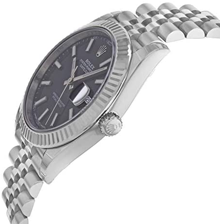 41DCaBm6BfL. AC  - Rolex Datejust 41 Black Dial Stainless Steel Mens Watch