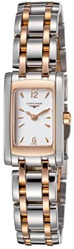 41K3ovqVW7L. AC  - Longines Dolce Vita in Steel and 18K Gold Women's Watch