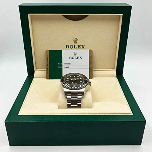 41Uxy+2BcoL. AC  - Rolex Deepsea Black Dial Automatic Men's Stainless Steel Oyster Watch 126660BKSO