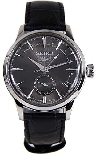 41bS6UJIYhL. AC  - Seiko Mens Analogue Automatic Watch with Leather Strap SSA345J1