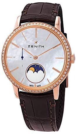 41c5AdBqZfL. AC  - Zenith Elite Lady 18kt Rose Gold Automatic Moonphase Diamond White Mother of Pearl Dial Ladies Watch 22.2320.692/80.C713