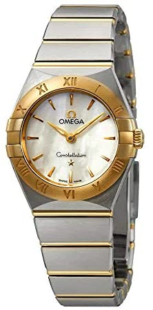 41uMNZhsrqL. AC  - Omega Constellation White Mother of Pearl Dial Ladies Steel and 18kt Yellow Gold Ladies Watch 131.20.25.60.05.002