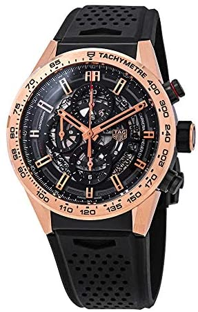51 G+Px3GlL. AC  - Tag Heuer Carrera Chronograph Automatic Black Skeleton Dial Men's Watch CAR205B.FT6087