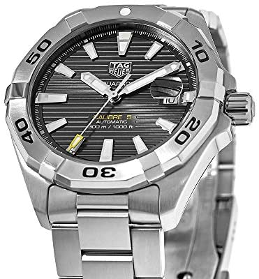 513F4ftndFL. AC  - Tag Heuer Aquaracer Calibre 5 Black Dial Stainless Steel Men's Watch WBD2113.BA0928