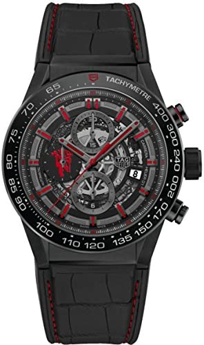 514EUGx2AYL. AC  - TAG HEUER CARRERA Calibre HEUER 01 Automatic Chronograph Limited Edition Red Devil Manchester United CAR2A1J.FC6400