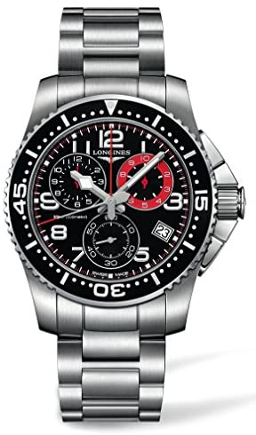 518Yn9s l8L. AC  - Longines HydroConquest Chronograph Black Dial Stainless Steel Mens Watch L36904536