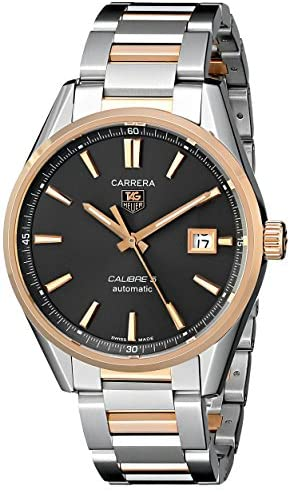 51J2DDHuHoL. AC  - TAG Heuer Men's WAR215E.BD0784 Carrera Rose-Gold and Stainless Steel Watch