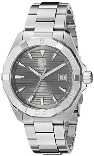 51QK+XCdwQL. AC  - TAG Heuer Men's Aquaracracer Swiss-Automatic Watch with Stainless-Steel Strap, Silver, 20 (Model: WAY2113.BA0928)