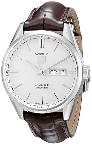 51V5R0wJ55L. AC  - TAG Heuer Men's WAR201B.FC6291 Carrera Analog Display Swiss Automatic Brown Watch