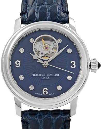 51fYUlOVNqL. AC  - Frederique Constant Women's Ladies Stainless Steel Automatic-self-Wind Watch with Leather-Alligator Strap, Blue, 19 (Model: FC-310HBAND2P6)