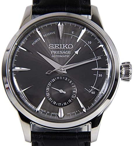 51hrNdrvsrL. AC  - Seiko Mens Analogue Automatic Watch with Leather Strap SSA345J1