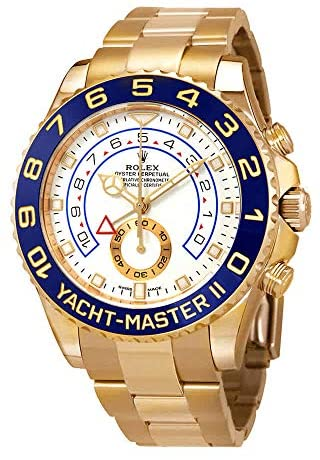 51kFvvcBZWL. AC  - Rolex Yacht-Master II Automatic White Dial Men's 18kt Yellow Gold Oyster Watch 116688-0002