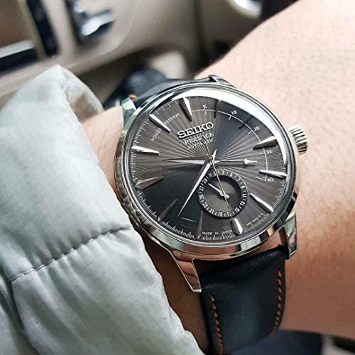 51sU1EoRYKL. AC  - Seiko Mens Analogue Automatic Watch with Leather Strap SSA345J1
