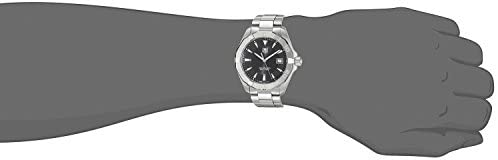 312ELU2SkcL. AC  - TAG Heuer Men's Aquaracer Stainless Steel Quartz Watch with Stainless-Steel Strap, Silver, 20 (Model: WAY1110.BA0928)