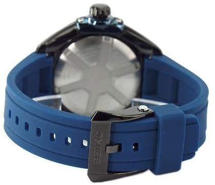 41+ ImR5bML. AC  - Seiko Kinetic Sapphire Blue Dial Rubber Band Mens Watch SNP121 by Seiko Watches