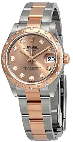 41MQW41 EzL. AC  - Rolex DateJust 31 Automatic Ladies Stainless Steel 18kt Everose Gold Oyster Watch 278341PDO