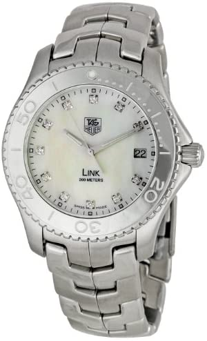 41Mdh+W2I L. AC  - TAG Heuer Men's WJ1114BA0575 Link Mother-Of-Pearl Dial Watch