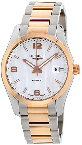 41N6g+ O3yL. AC  - Longines Conquest Classic Silver Dial Stainless Steel Men's Watch L27855767