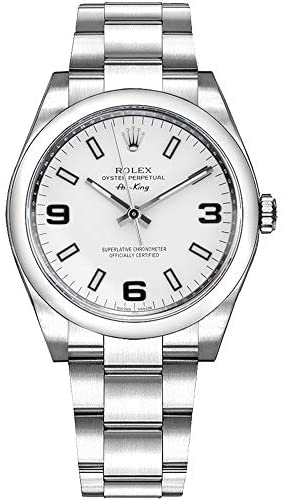 41OqO1kwkzL. AC  - Rolex Oyster Air-King 114200 White Dial Stainless Steel Case and Oyster Bracelet