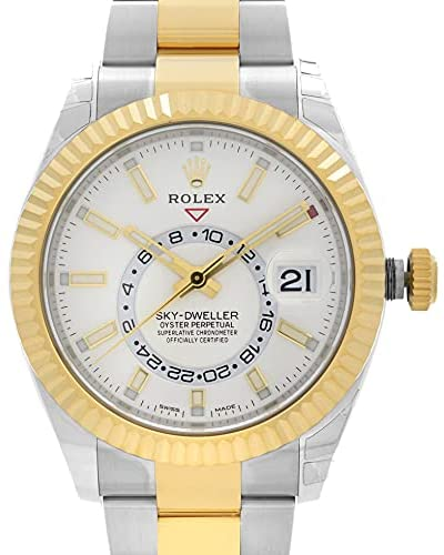 41R4OfuO2zS. AC  - Rolex Oyster Perpetual Sky-Dweller Automatic Men's Two-Tone Watch 326933WSO