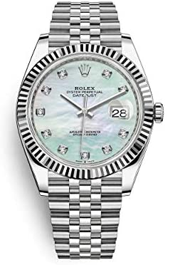 41ZtdjqN2zL. AC  - ROLEX DATEJUST 41 STEEL AND WHITE GOLD MOTHER OF PEARL DIAMOND DIAL JUBILEE BRACELET 41MM