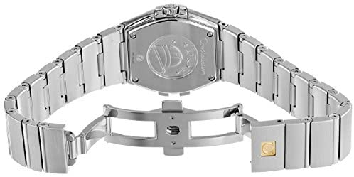 41qkHoeYqAL. AC  - Omega Women's 123.15.27.60.51.001 Constellation Black Guilloche Dial Watch
