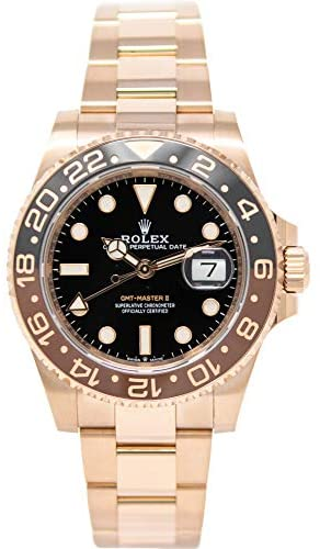 41tW5xMk3 L. AC  - Rolex GMT-Master II 126715 18K Rose Gold Watch Black Dial Black and Brown Rotatable Bezel UNWORN