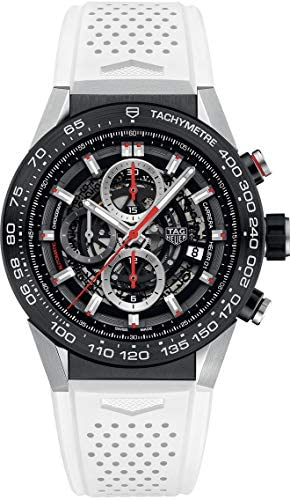 513x OB3+mL. AC  - TAG Heuer Carrera Black Skeleton Dial with White Rubber Strap Men's Watch CAR2A1Z.FT6051