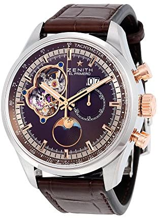 519G3v1etHL. AC  - Zenith El Primero Chronomaster Automatic Brown Dial Brown Leather Mens Watch 512161404775C713