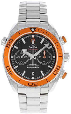 51T4JHteqCL. AC  - Omega Men's 232.30.46.51.01.002 'Seamaster Planet Ocean' Chronograph Stainless Steel Watch