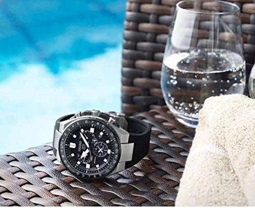 51UxpEmGIcL. AC  - Seiko astron Mens Analog Solar Watch with Silicone Bracelet SSE169J1