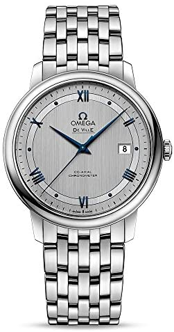 51mKPgDrP L. AC  - Omega Prestige Co-Axial Rhodium-Silvery Dial Automatic Mens Watch 424.10.40.20.02.001