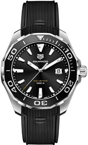 51s8p435PDL. AC  - Tag Heuer Aquaracer Black Sunray Dial Mens Watch WAY101A.FT6141